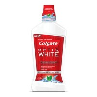 Colgate Optic White Mouthwash, Sparkling Fresh Mint 16 oz [035000671110]