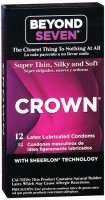 Crown Natural Rubber Latex Condoms Lightly Lubricated 15 Each [028373200124]