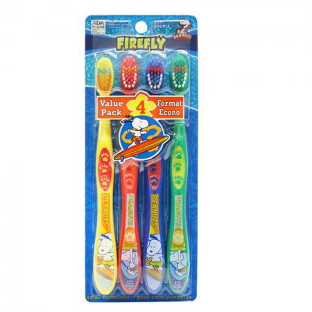 Firefly Peanuts Soft Toothbrush 4 Each [672935710202]