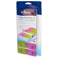 Apex 7-Day AM/PM Detach N' Go XL Pill Organizer 1 ea [076855002032]