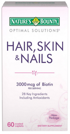 Nature's Bounty Hair, Skin and Nails Caplets 60 Tablets [074312075803]