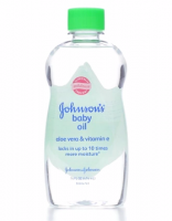 JOHNSON'S Baby Oil, Aloe Vera & Vitamin E 14 oz [381370033325]
