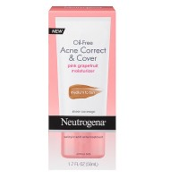Neutrogena  Oil-Free Acne Correct & Cover Pink Grapefruit Moisturizer, Medium to Tan 1.7 oz [070501110614]