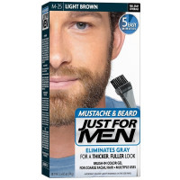 JUST FOR MEN Brush-In Color Gel, Mustache & Beard, M-25 Light Brown 1 ea [011509049025]