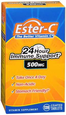 Ester-C 500 mg Coated Tablets 120 Tablets [025077169726]