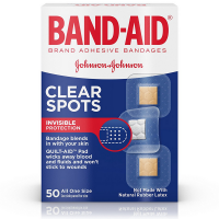 BAND-AID Clear Spots Bandages 50 ea [381370047087]