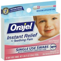 Baby Orajel Fast Teething Pain Relief Teething Swabs Berry 12 Each [310310340384]