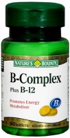 Nature's Bounty Vitamin B Complex Tablets Plus B-12 90 Tablets [074312001901]