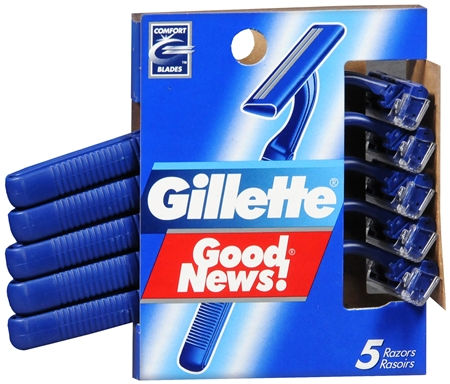 Gillette Good News Razors 5 Each [047400110366]