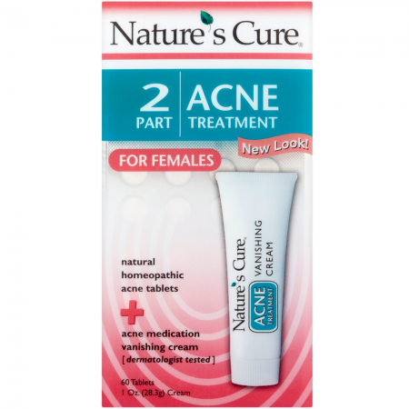Nature's Cure 2 Part Acne Treatment for Females 1 Each [020382100112]