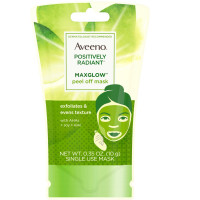 AVEENO Positively Radiant MaxGlow Peel Off Exfoliating Face Mask with Alpha Hydroxy Acids, Soy & Kiwi Complex for Even Tone & Texture .35 oz [381371181728]