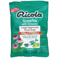 Ricola Cough Suppressant Throat Drops, Sugar Free, Green Tea with Echinacea 19 ea [036602302075]