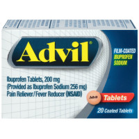 Advil Film-Coated Ibuprofen 200 mg Tablets 20 ea [305730133203]