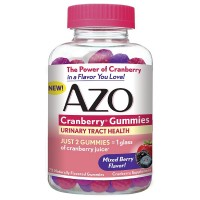 AZO Urinary Tract Health Cranberry Gummies, Mixed Berry 72 ea [787651760100]