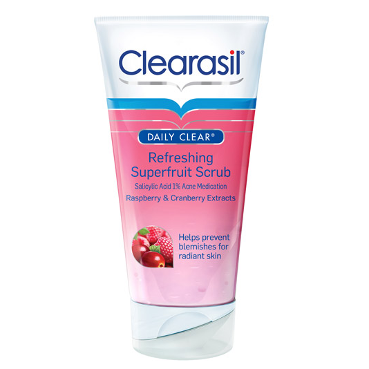 5 Pack Clearasil Daily Clear Refreshing SuperFruit Wash 6.7 Oz Each Clearpores Herbal - Acne Treatment - 4 Month Clear Pores