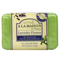 A LA MAISON Solid Bar Soap, Lavender Flowers 8.8 oz [182741000294]