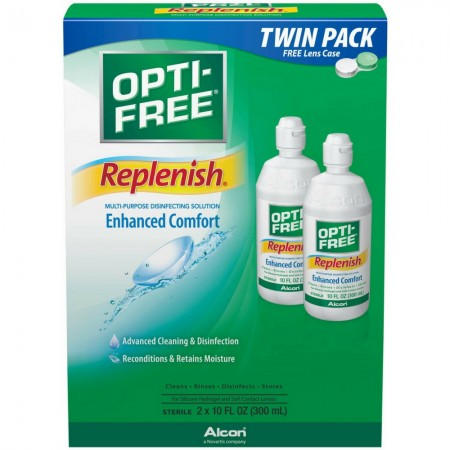 Alcon OPTI-FREE Replenish Multi-Purpose Disinfecting Solution 10 oz [300650356053]