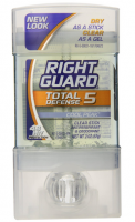 Right Guard Total Defense 5 Clear Sick, Antiperspirant & Deodorant, Cool Peak 2 oz [017000000213]