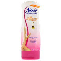 Nair Hair Remover Lotion For Legs & Body, Cocoa Butter With Vitamin E 9 oz [022600223399]