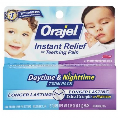 Oragel Instant Relief for Teething Pain, Extra Strength, 2 ea 0.18 oz [310310319557]