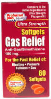 Gas Relief  180mg Softgels 60 ea [359726530606]