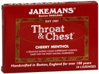 Jakemans Throat & Chest Lozenges Cherry Menthol 24 Each [895164002041]