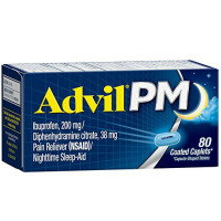 Advil PM 200 mg Coated Caplets 80 ea [305730164405]