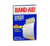 BAND-AID Bandages Comfort-Flex Sheer Extra Large All One Size 10 Each [381370057055]