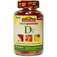 Nature Made Vitamin D3 Adult Gummies, Strawberry, Peach, & Mango 150 ea [031604029203]