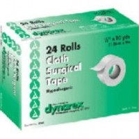 "Dynarex Cloth Surgical Tape 0.5""X10 YD  24 pack [616784356129]"