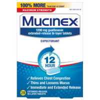 Mucinex 12 Hr Max Strength Chest Congestion Expectorant Tablets, 28 ea [363824023281]