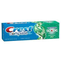 Crest Complete Multi-Benefit Fluoride Toothpaste, Whitening + Scope, Minty Fresh 0.85 oz [037000385929]