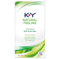 K-Y Natural Feeling Personal Lubricant With Aloe Vera, Water Based & Free From Harmful Chemicals 1.69 oz [067981963021]