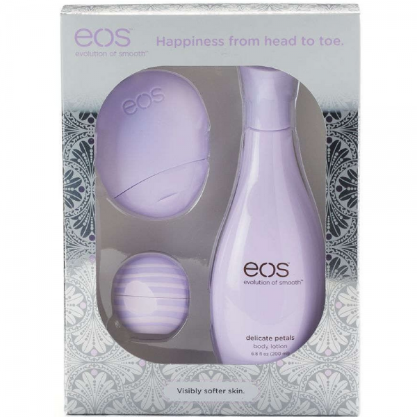 eos Evolution of Smooth Lip Balm Body Lotion Gift Set Purple, 3 Ea, 3 Pack NEW laser removal scars soft laser skin anti-aging acne treatment facial beauty