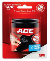 ACE 3 Inch Elastic Bandage with ACE Clip, 1 ea [051131192973]