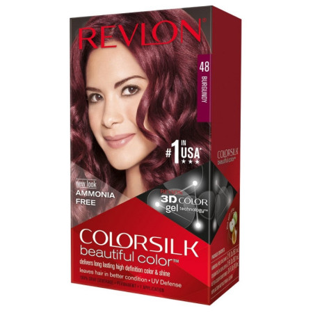 Revlon ColorSilk Beautiful Color, 48 Burgundy 1 ea [309976623481]
