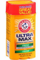 ARM & HAMMER Ultramax Wide Antiperspirant & Deodorant Solid Twin Pack, Fresh 2 ea [033200197263]