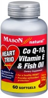Mason Natural Heart Trio Co Q-10, Vitamin E and Fish Oil Softgels 60 Soft Gels [311845141156]