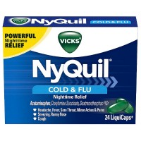 Vicks NyQuil Cold & Flu Nighttime Relief LiquiCaps 24 ea [323900014404]