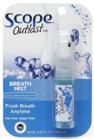 SCOPE Outlast Breath Mist, Long Lasting Peppermint 0.24 oz [075595950146]