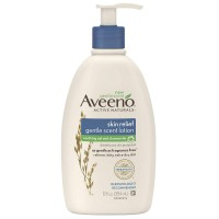 AVEENO Active Naturals Skin Relief Gentle Scent Lotion, Soothing Oat and Chamomile 12 oz [381371163281]