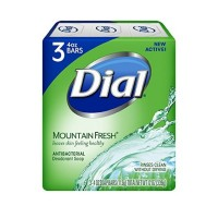 Dial Mountain Fresh Antibacterial Deodorant Bar Soap 3, 4 oz Soap Bars   [017000003245]
