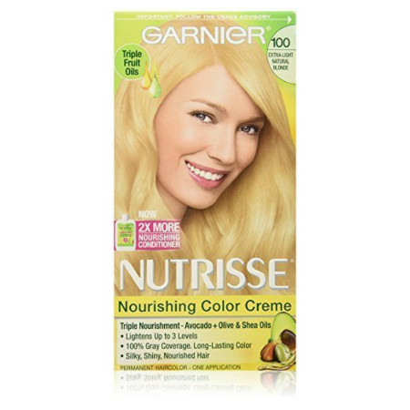 Garnier Nutrisse Nourishing Color Creme, Extra-Light Natural Blonde [100] 1 ea [603084242528]