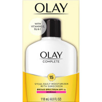 OLAY Complete UV 365 Daily Moisturizer With Sunscreen, SPF 15, Normal Skin 4 oz [075609000942]
