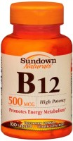 Sundown B-12 500 mcg Tablets 100 Tablets [030768005764]