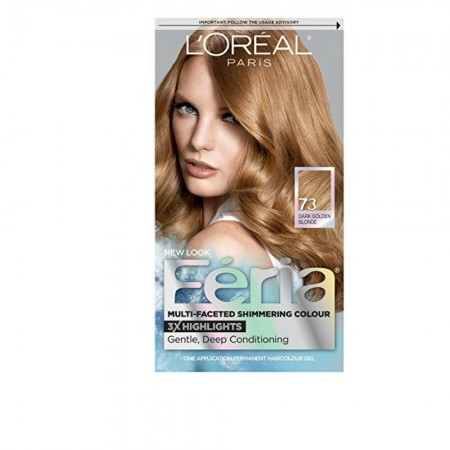L'Oreal Paris Feria Multi-Faceted Shimmering Color, Dark Golden Blonde [73] (Warmer) 1 ea [071249121290]