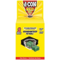 d-CON Rodenticide Rodent and Mouse Bait Station Corner Fit, 1 Bait Station + 2 Refills [019200898683]