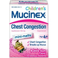 Mucinex Children's Chest Congestion Expectorant Mini-Melts, Bubblegum, 12 ct [363824254128]