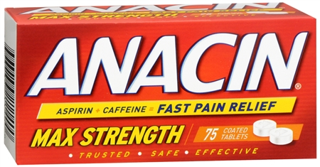 Anacin Tablets Max Strength 75 Tablets [363736211400]