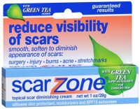 Scar Zone Topical Scar Diminishing Cream with Green Tea 1 oz [018515608703]